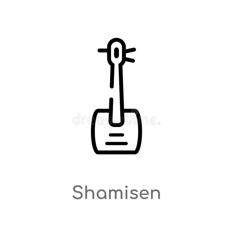 概述shamisen传染媒介象 ?????????????????? 编辑可能的传染媒介冲程shamisen 向量例证