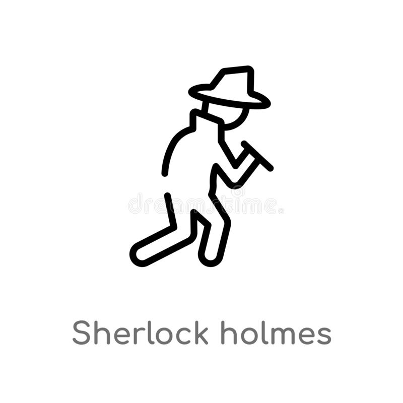 概述sherlock holmes传染媒介象 E E 皇族释放例证