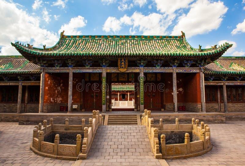 榆次老镇场面。孔子寺庙(寺庙)大厦。 库存图片