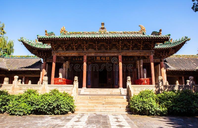 榆次老镇建造场面城市上帝寺庙 免版税图库摄影