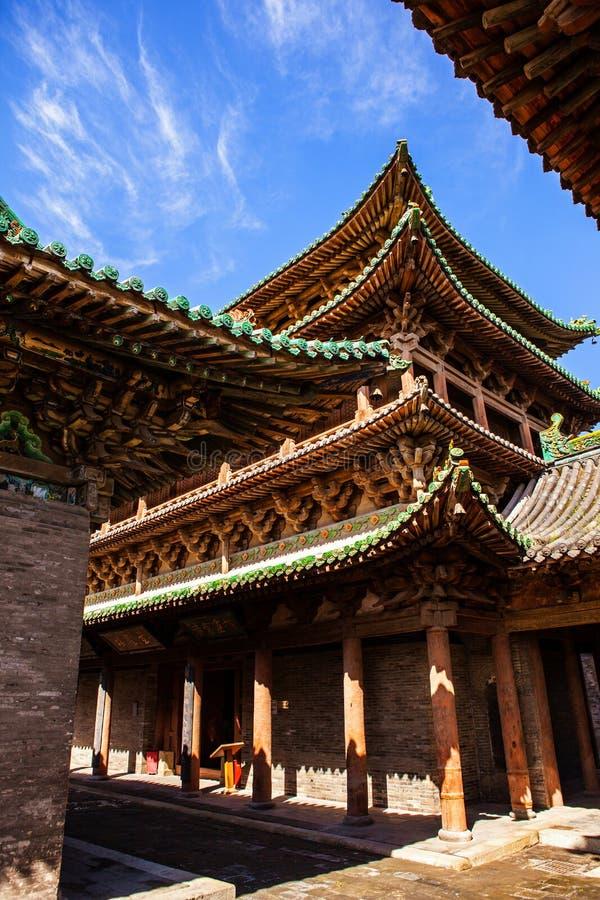 榆次老镇建造场面城市上帝寺庙 免版税库存照片