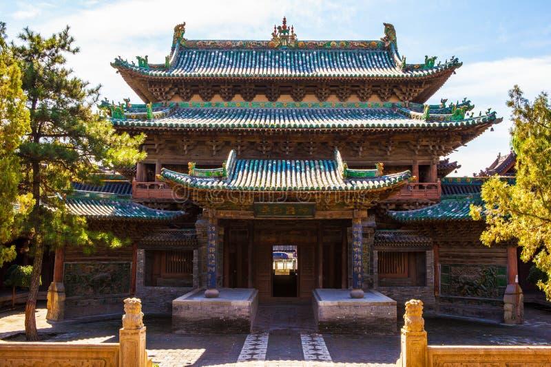 榆次老镇建造场面城市上帝寺庙 库存照片