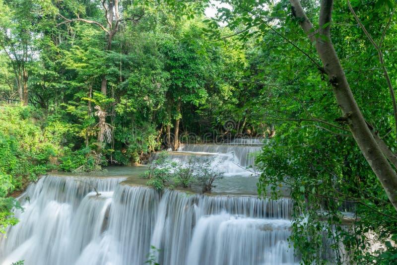 槐Mae Khamin瀑布,泰国 库存图片