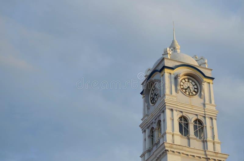 槟榔岛钟楼在槟榔岛,马来西亚 库存图片