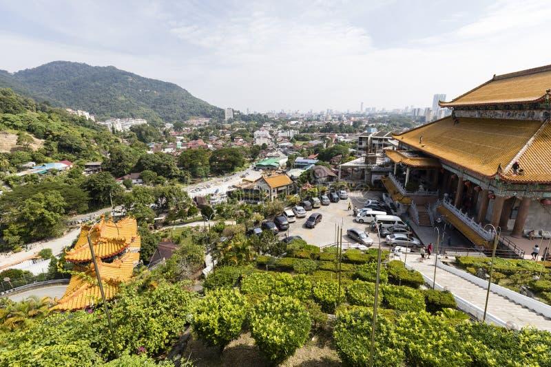 槟榔岛,马来西亚, 2017年12月20日:Kek Lok Si寺庙 免版税库存图片