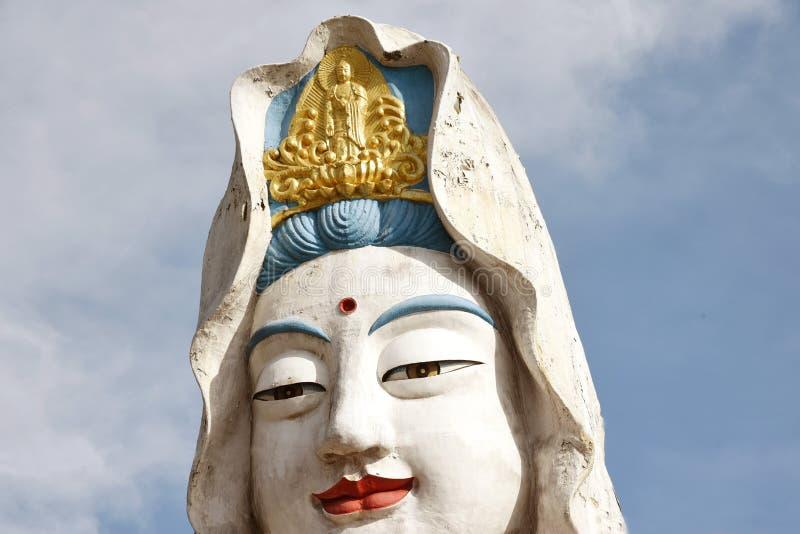 槟榔岛,马来西亚:在寺庙的观世音菩萨菩萨 库存图片