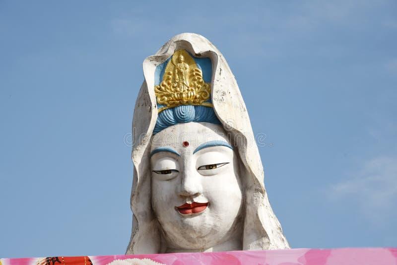 槟榔岛,马来西亚:在寺庙的观世音菩萨菩萨 图库摄影