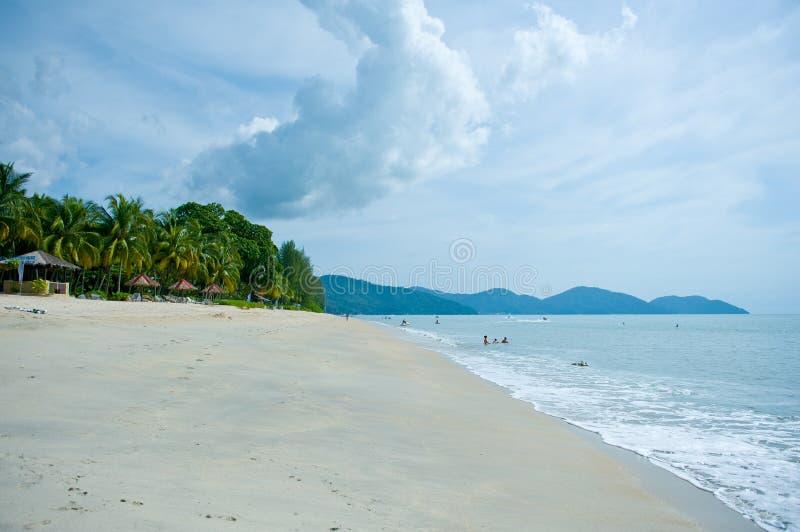 槟榔岛巴图Ferringhi海滩 库存照片