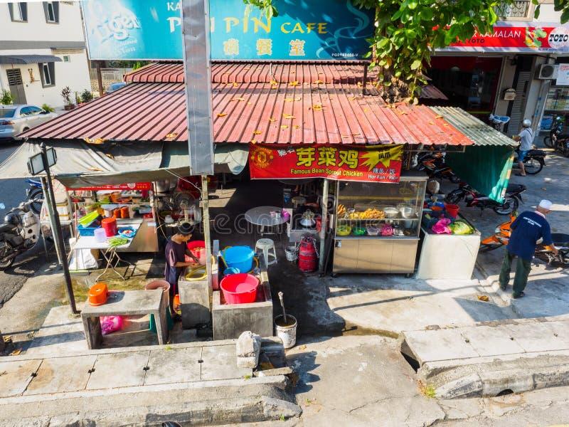 槟榔岛` s街道食物 免版税库存图片