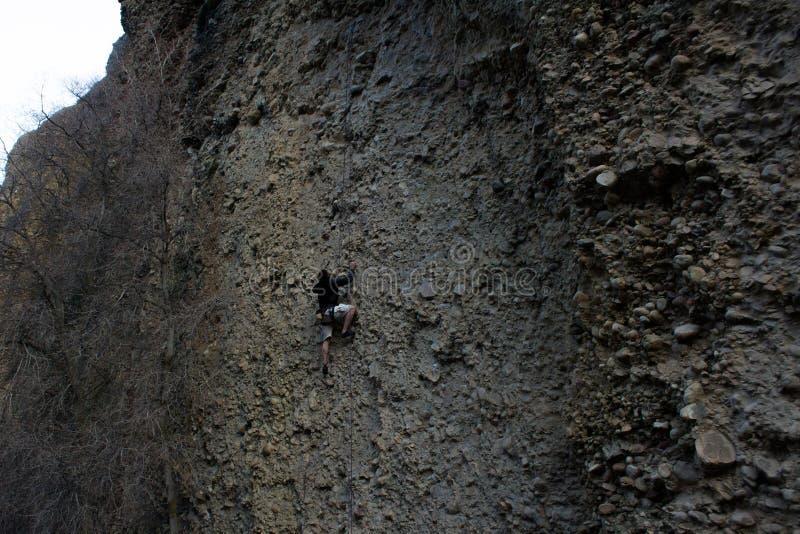 槭树峡谷,犹他在cobb的攀岩旅行 免版税库存图片