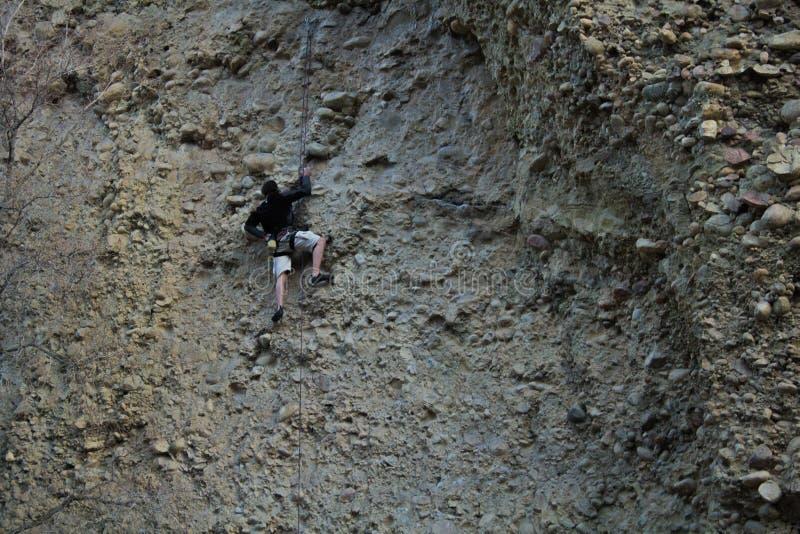 槭树峡谷,犹他在cobb的攀岩旅行 库存图片
