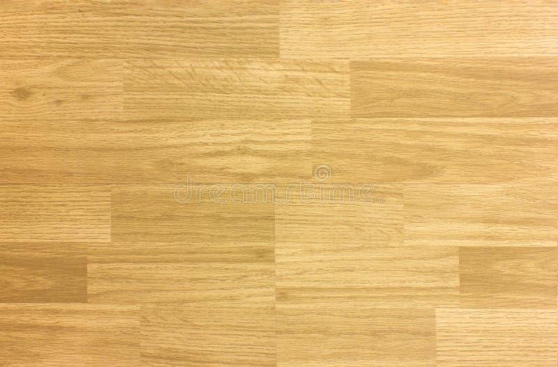 槭树硬木篮球地板样式如从上面被观看 免版税库存图片