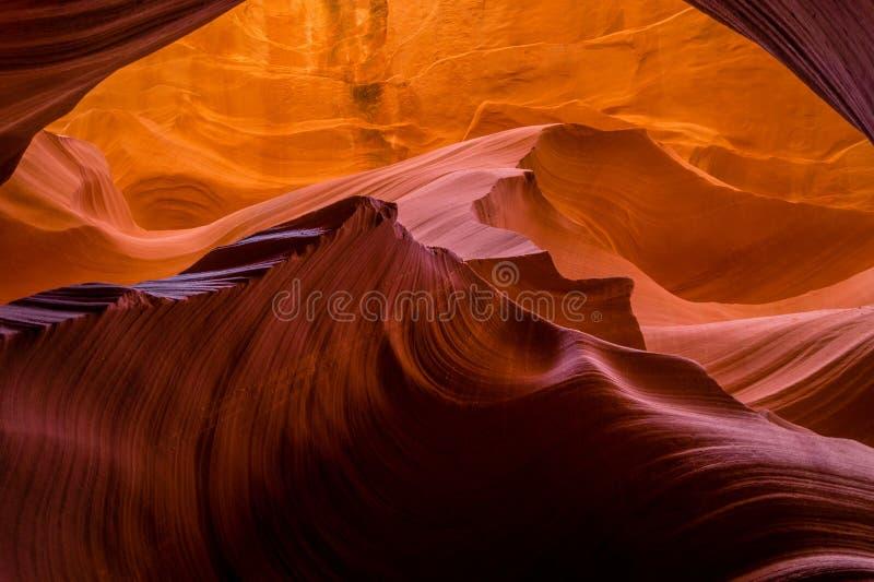 槽峡谷在亚利桑那 免版税库存照片