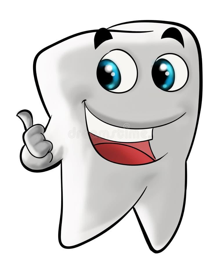 槽牙微笑的牙 向量例证