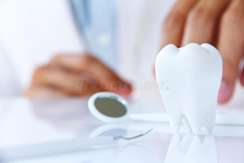槽牙,牙齿概念 图库摄影