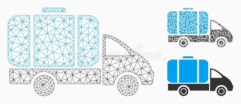 槽车传染媒介网状网络模型和三角马赛克象 向量例证