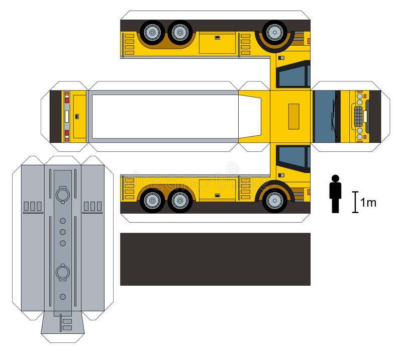 槽车的纸模型 向量例证
