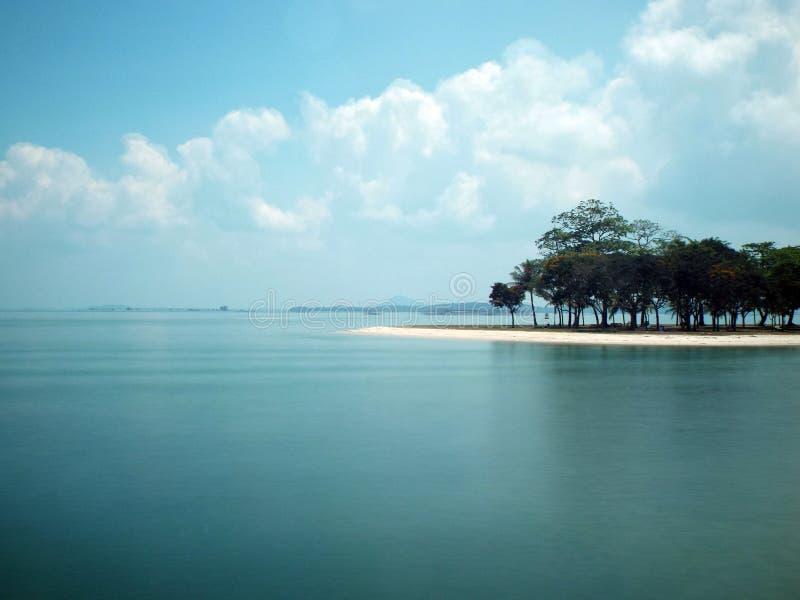 樟宜海滩,新加坡 图库摄影