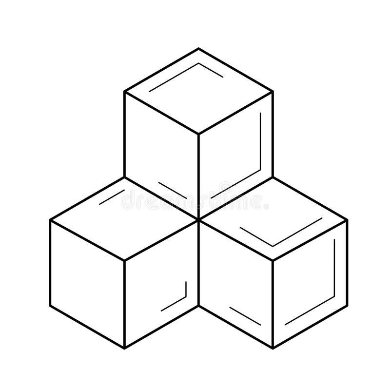 模块线象 库存例证