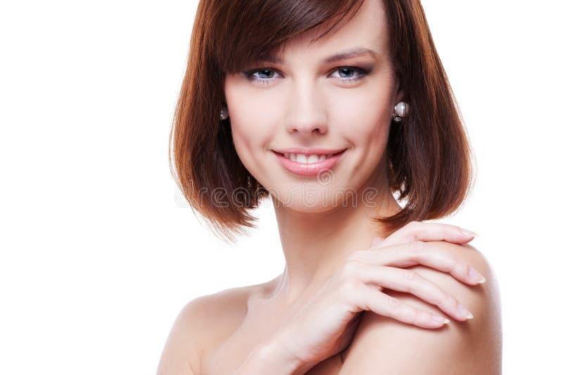 模型俏丽的面带笑容 免版税库存图片