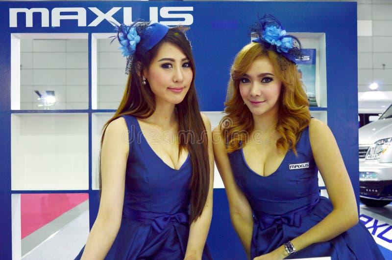 模型提出了Maxus汽车影片 免版税库存照片