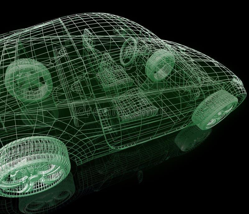 模型汽车 皇族释放例证