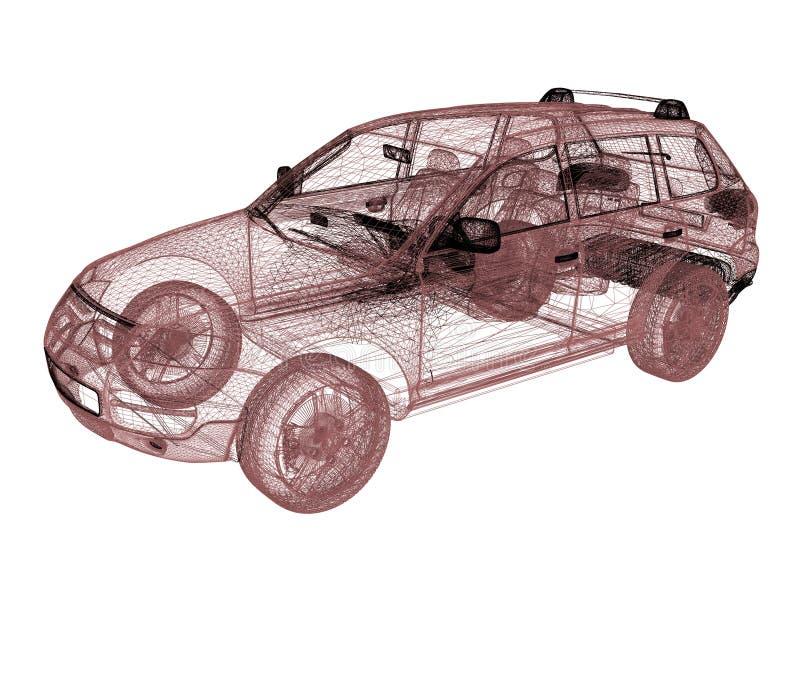模型汽车 3d回报 库存例证