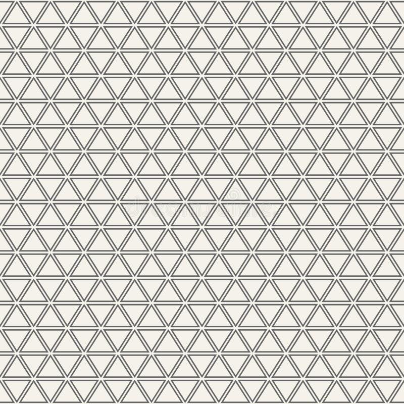 模式无缝的三角 库存例证