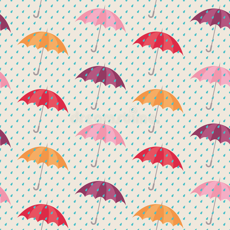 模式无缝的伞 向量例证