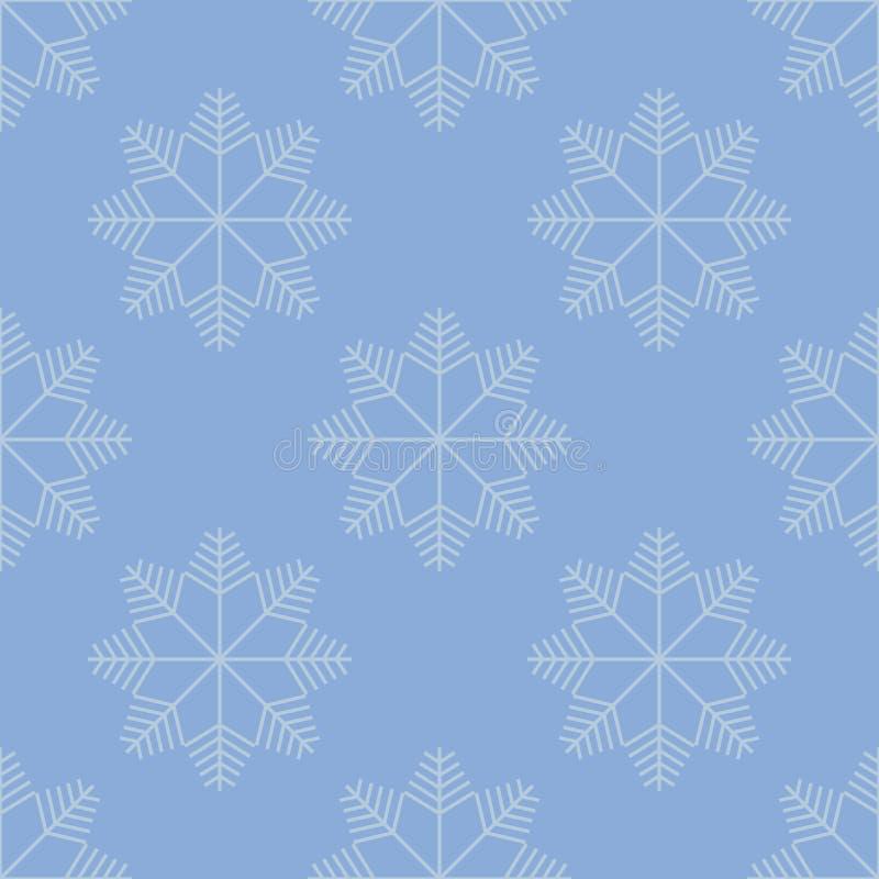 模式无缝的冬天 抽象背景雪花 圣诞节和新年时尚的假日设计打印 浅紫色, g 向量例证