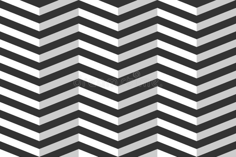 模式无缝的向量 三角波浪-之字形 库存例证