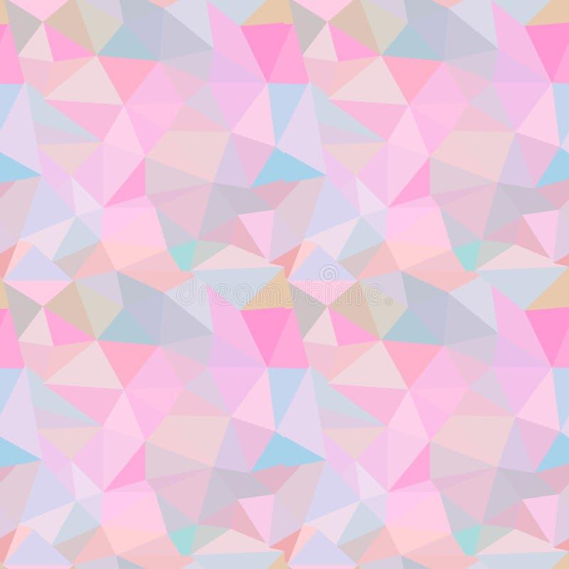 模式无缝的向量 与五颜六色的三角的抽象背景 皇族释放例证
