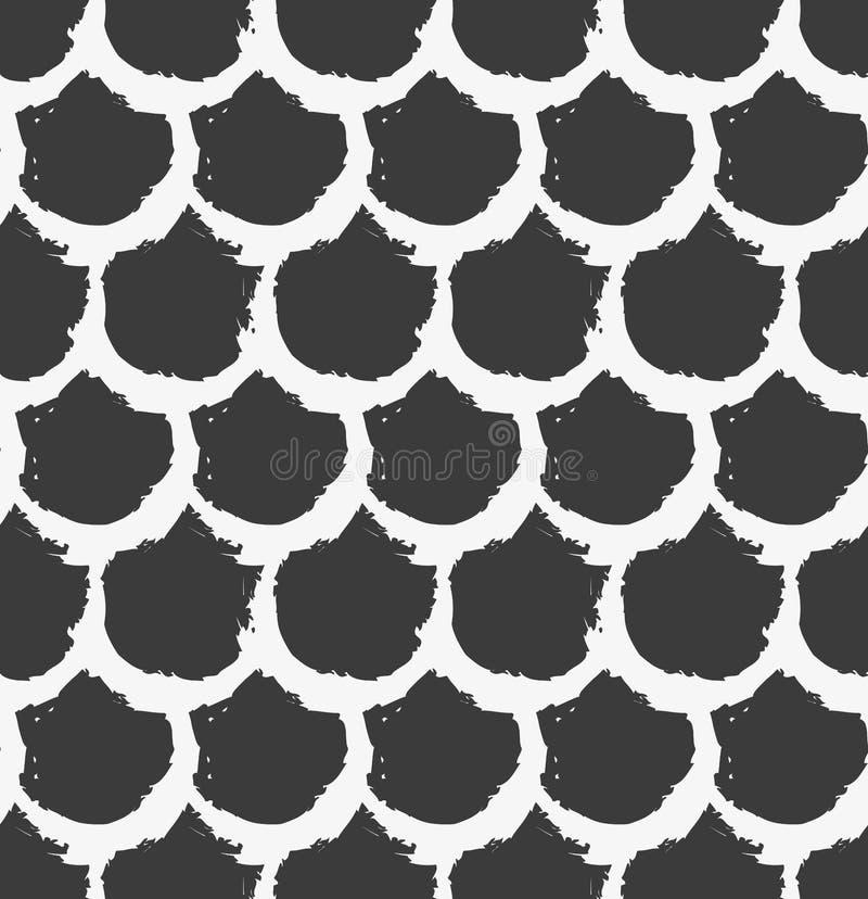 模式无缝的向量 与圆的刷子冲程的抽象背景 免版税库存照片