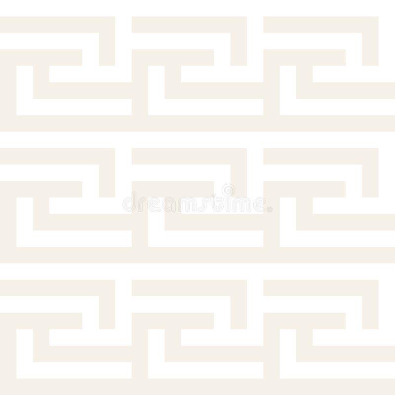 模式无缝的向量 几何抽象的背景 线性栅格结构 库存例证