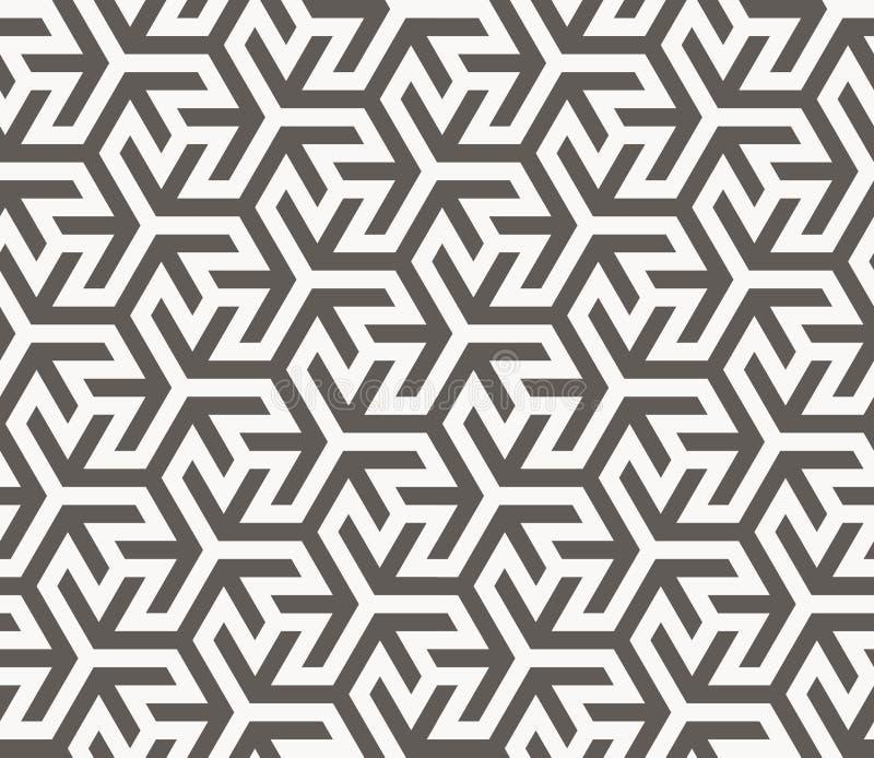 模式无缝的向量 几何纹理 库存例证