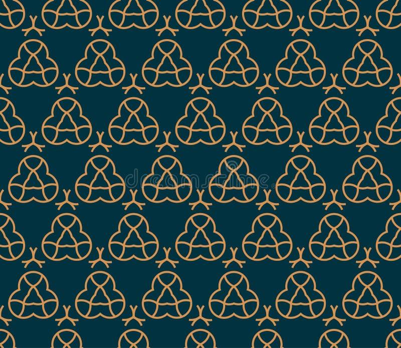 模式无缝的向量 现代时髦的抽象纹理 重复从镶边元素的几何瓦片 皇族释放例证