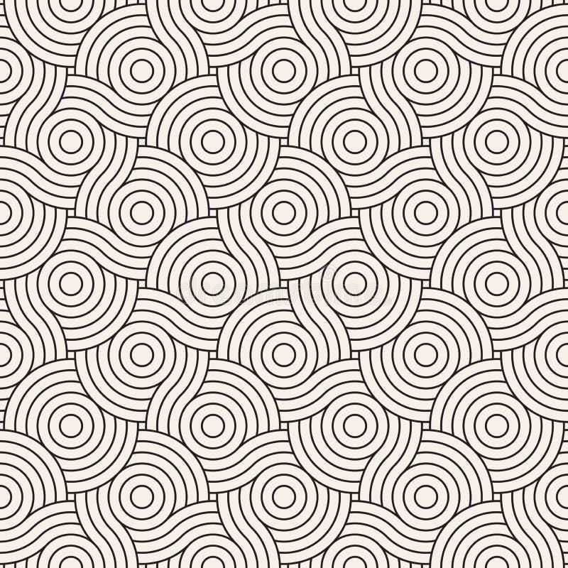 模式无缝的向量 现代时髦的抽象纹理 重复几何瓦片 向量例证