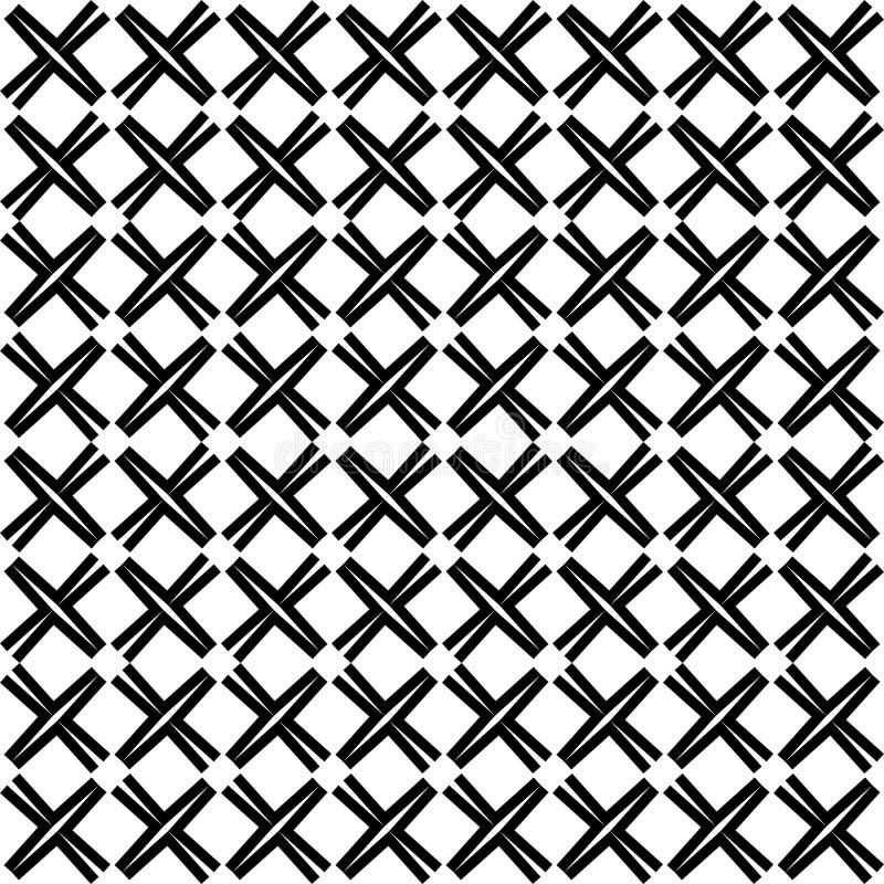 模式无缝的向量 现代时髦的抽象纹理 重复几何 栅格,装饰品 皇族释放例证