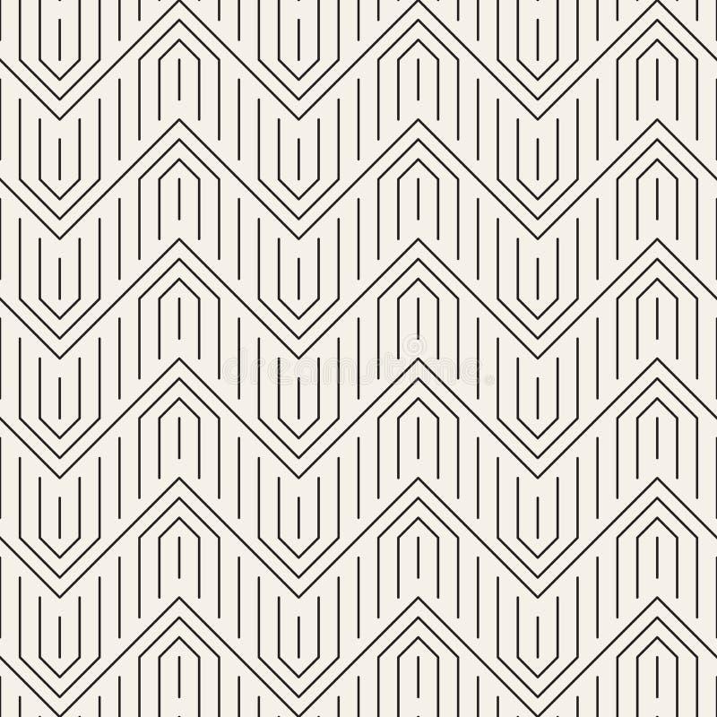模式无缝的向量 现代时髦的抽象纹理 重复几何tilesn 库存例证