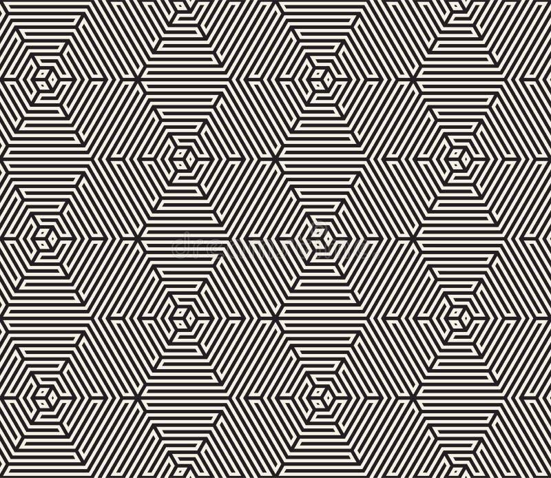 模式无缝的向量 现代时髦的纹理 重复从镶边元素的几何瓦片 免版税图库摄影