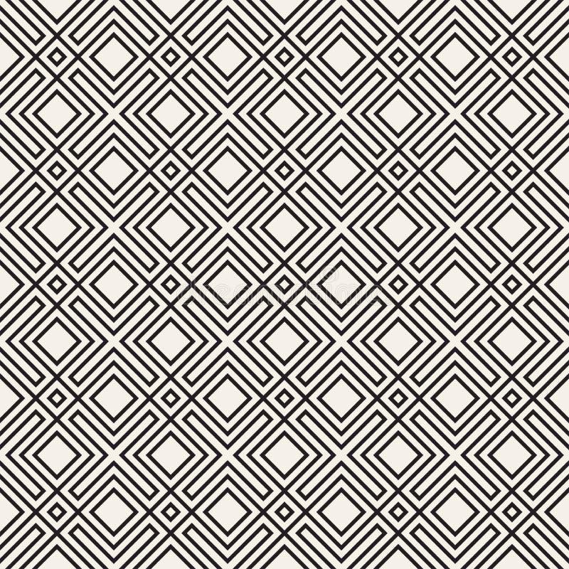 模式无缝的向量 现代时髦的纹理 重复几何背景 镶边格子 线性图形设计 库存照片