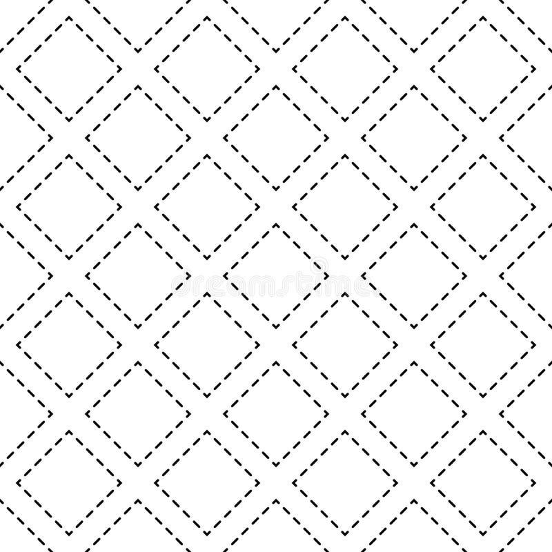 模式无缝的向量 现代时髦的纹理 重复有被加点的菱形的几何瓦片 皇族释放例证