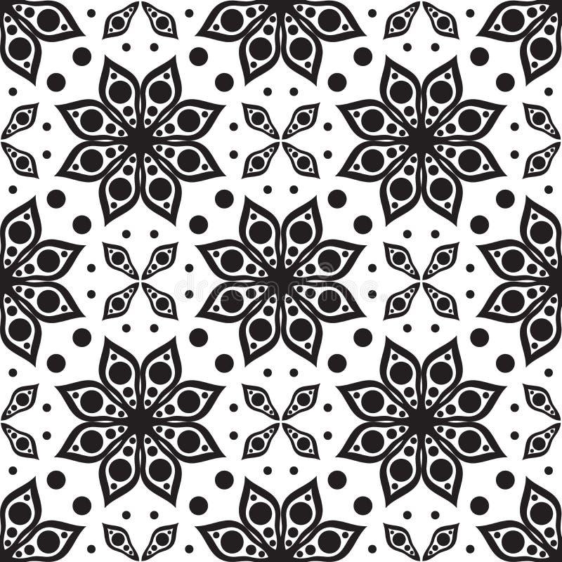模式无缝的向量 现代几何纹理,花卉backgr 皇族释放例证