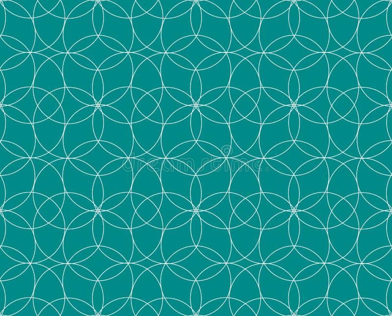 模式无缝的向量 现代时髦的纹理 重复几何瓦片 盘旋同心 库存例证