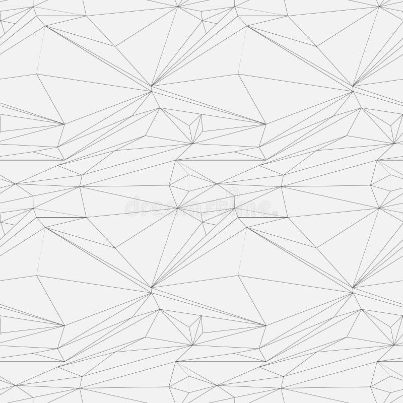 模式无缝的向量 现代时髦的纹理 重复有被加点的菱形的几何瓦片 库存例证