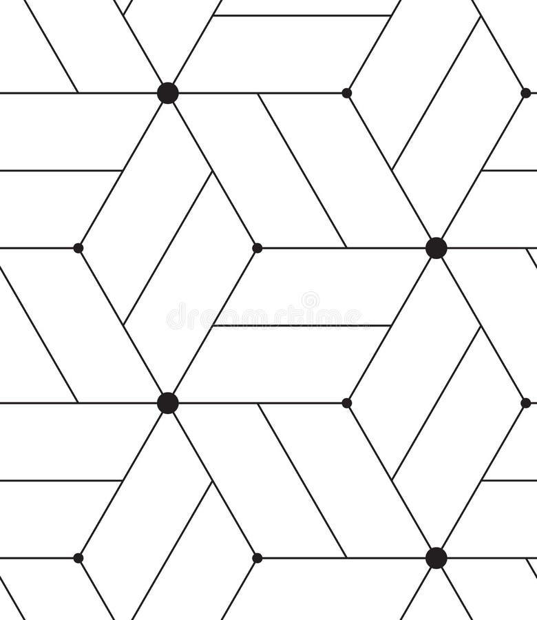 模式无缝的向量 现代线几何背景 库存照片