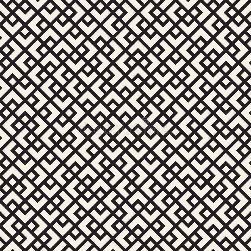 重复纹理的滤网 与混乱形状的线性栅格 时髦的几何网格设计 向量例证图片