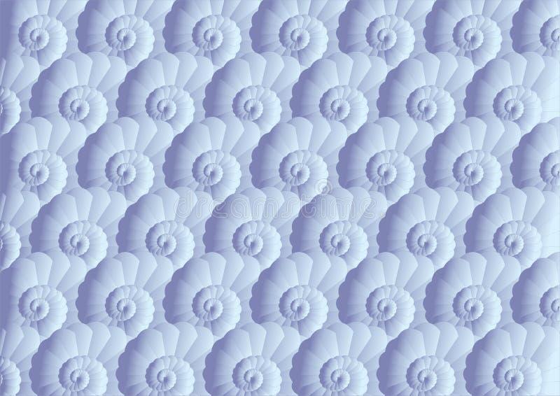 模式无缝的壳 向量例证