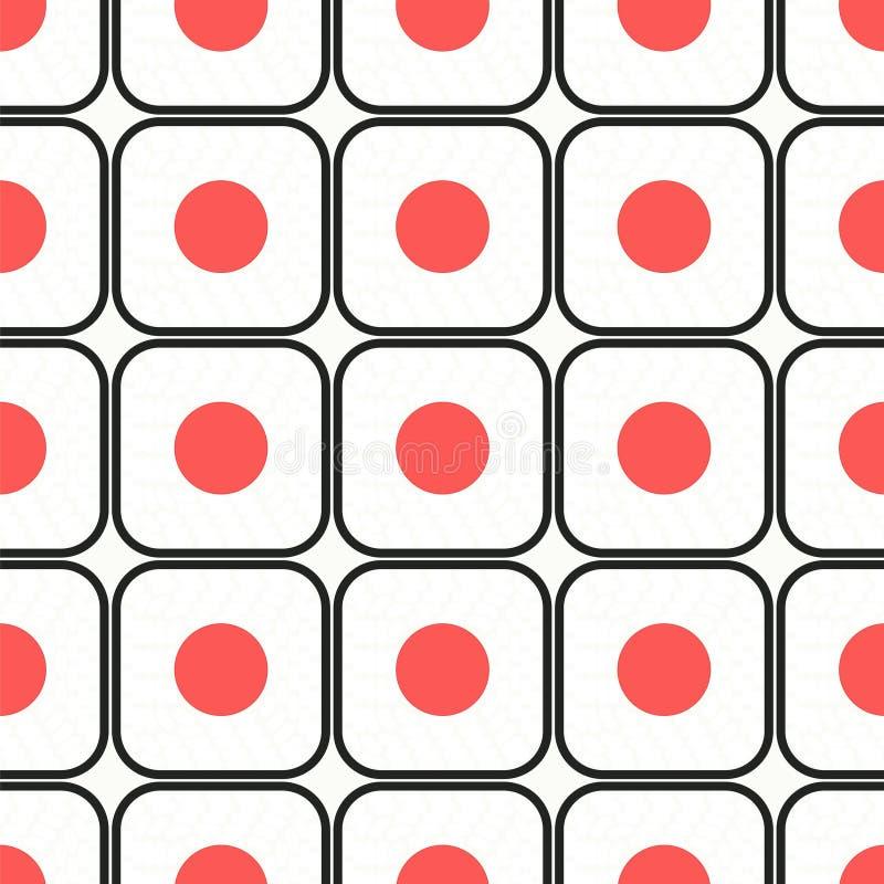 模式无缝的寿司 皇族释放例证