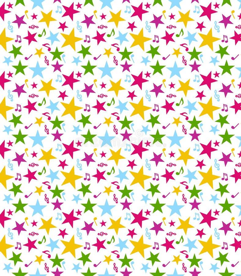 模式无缝的星形 向量例证